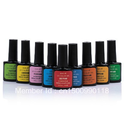 Free Shipping 12PCS/lot Soak Off LED&UV Gel Topcoat,Base Gel Nail Polish Art Nail Color Gel 144 Fashion Colors Available(China (Mainland))
