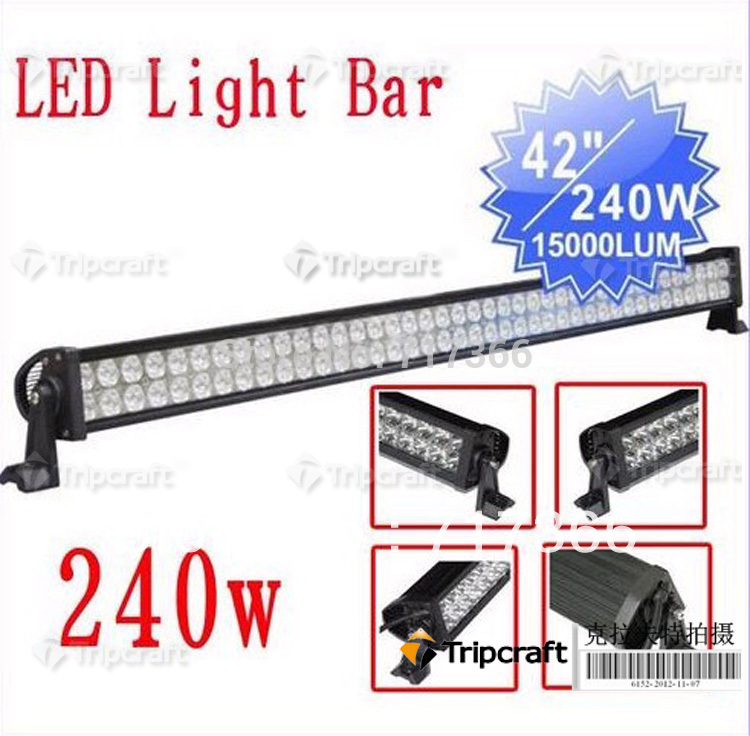 "Free shipping 42"" DHL Free Shipping 12v 240W Offroad 17000 Lumens 9V-32V Car Truck LED Bar Lights SUV Jeep Boat Led Work Light(China (Mainland))"