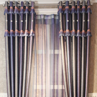 Meters american style purple gradient color curtain quality jacquard print blackout fabric curtain