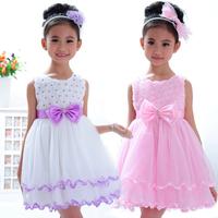 Children's clothing female child summer new arrival 2013 child princess dress one-piece dress fluffy vest dress