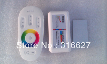 Free HK Parcel shipping 2.4G RF Wireless full touching screen LED RGB Remote Controller 12V/24V WiFi Compatible
