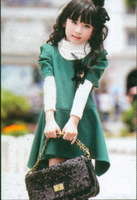 2013 spring and autumn female child mdash . fashion one-piece dress 3033
