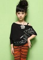 2012 children's clothing summer play beauty summer club - Latin hot-selling batwing shirt