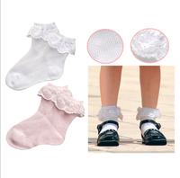 Breathable mesh all-match little princess lace decoration sock summer children socks ultra-thin