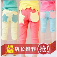 2013 female child trousers capris legging children's clothing female child summer capris