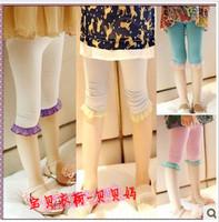2013 summer female child modal laciness legging