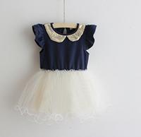 2013 summer female child gold turn-down collar one-piece dress princess dress tulle dress