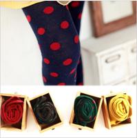 Female child hot-selling candy color polka dot pantyhose legging socks child socks