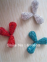 Free Shipping!! (100pcs/lot) 8x14mm high quality drop shape shamballa clay crystal beads