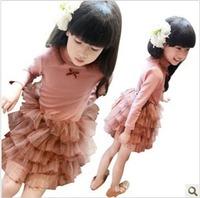 Female child autumn cake one-piece dress q1001