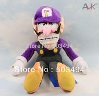 "Super Mario Bros Brothers Waluigi 11"" inch 27cm high quality Plush Doll"