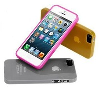 Free shipping 100pcs 0.3mm ultra-thin matte shell protective sleeve case cover for iphone 5