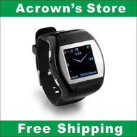 Free Shipping WatchPhone MQ007--1.5 inch Screen GSM(Quad Band ) Bluetooth Camera FM  MP3 MP4 (Black)