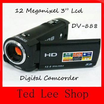 "12.0 MP Digital Camcorder have 2.4"" Previw Screen and Movie Recording with Sound digital video camera DV-888 DV888,Free Shipping"