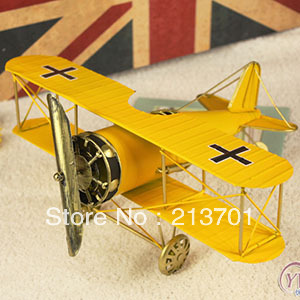 2013 New Arrival Handmade Metal Plane Model, Manual Iron Plane Model, Metal Craft Gift Home Decoration, Gift, Children's toys(China (Mainland))