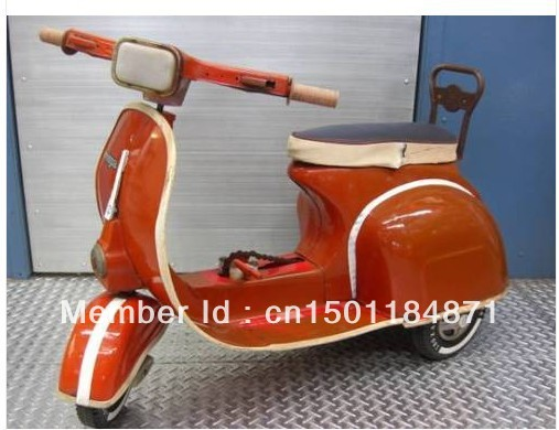 Vintage RETRO VESPA Pedal Car Bicycle Biped Bike Motor Bike(China (Mainland))
