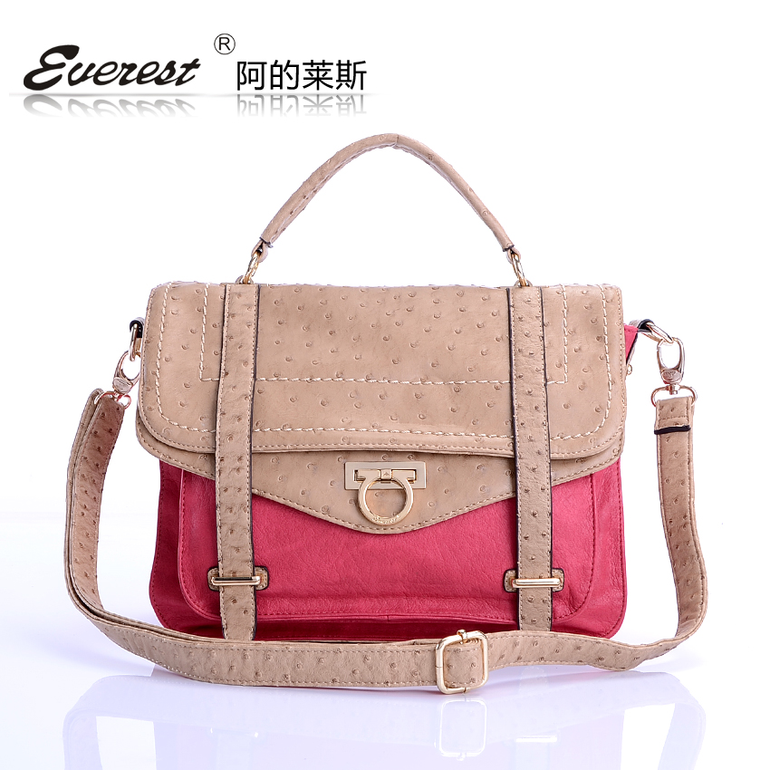 Rice women's bags 2013 female vintage messenger bag women's ostrich grain handbag one shoulder handbag(China (Mainland))