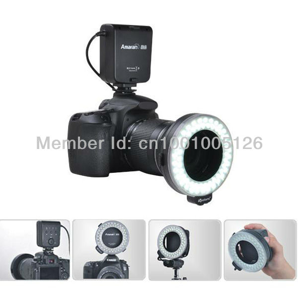 Portable Aputure LED Macro Flash Vedio Light AHL-C60 Battery Powered Ring Flash Cameras Speedlite Studio Lighting Kit for Canon(China (Mainland))