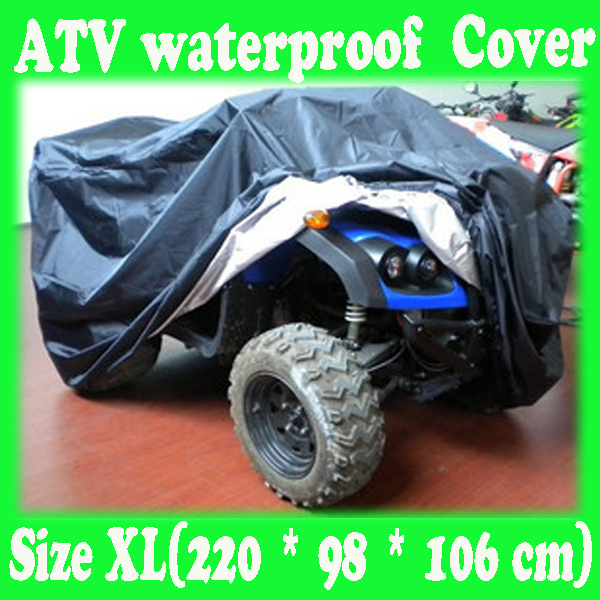 ATV Size XL ( 220 x 98 x 106 cm) Waterproof ,Sunscreen,Antifreezing Cover For 250 cc ATV Movement Free Shipping(China (Mainland))