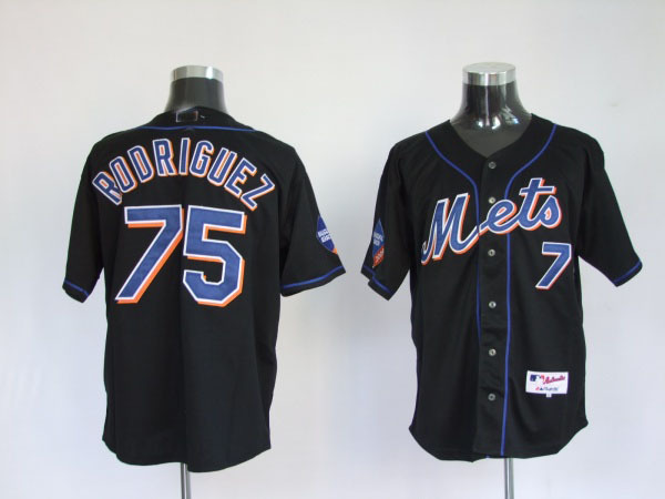 wholesale usa new york mets 75 Rodriguez Black baseball Jersey,Size 48,50,52,54,56 mix order,Free Shipping(China (Mainland))