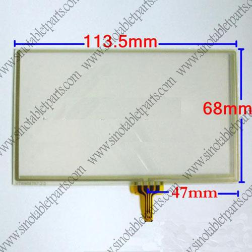 For 4.8 inch Universal GPS Car DVD MP4 MP5 Player Top Glass Len Digitizer Touch Panel Screen + Free HongKong Tracking(China (Mainland))
