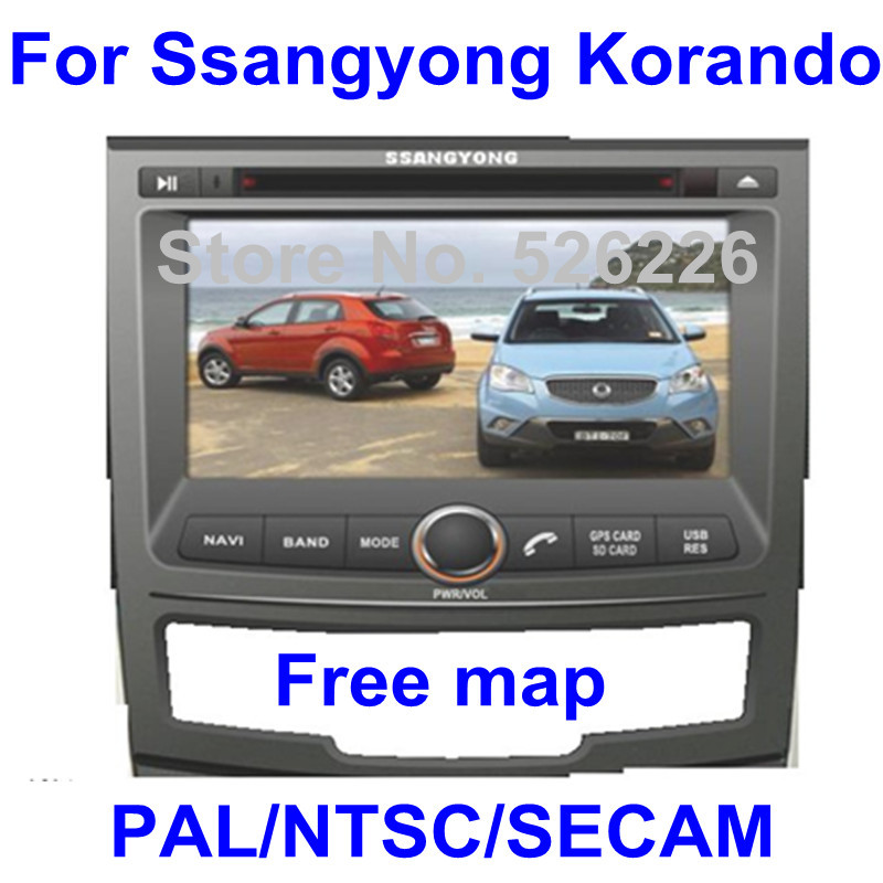 car dvd for Ssangyong Korando with GPS Navi / PIP / RDS / TV player / Game / BT / 3G Optinal + Free map gift(China (Mainland))