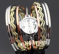 Free shipping fashion big wave bracelet watch , luxury stainless steel wristwatch , women/ lady / girl watch