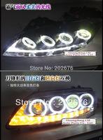 FREE SHIPPING, CHA 2004-2012 ANGEL EYE HEADLIGHT V2, WITH LED TEAR EYE AND BI-XENON PROJECTOR,COMPATIBLE CARS: MAZDA 6 M6