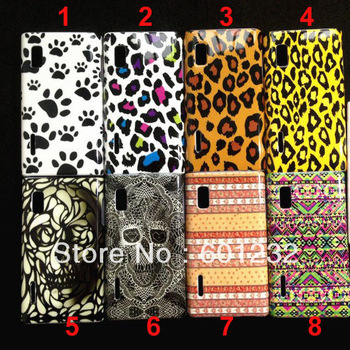 Wholesale Leopard Tiger Mickey Minnie hard cover for LG Optimus L5 E610 cell phone case 100pcs/lot ems dhl free shipping