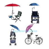 Wheelchair Bicycle Pram Swivel Umbrella Connector Stroller Holder Any Angle