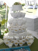 6 Tier Round 5mm Thick Acrylic / Perspex Maypole Cupcake Stand, 6 Tier Wedding & Party Cake Stand, 6 Tier Cake Stand
