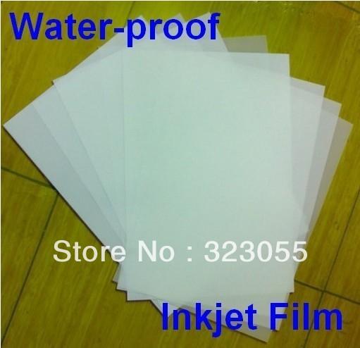 100 sheet Screen Printing Inkjet Transparency Film Paper Water Proof Film Output(China (Mainland))