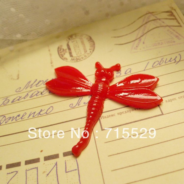 Free shipping 60mm cute Resin dragonfly For toy/DIY Jewelry/ Mobile Phone Decoration by 50pcs/ lot(China (Mainland))