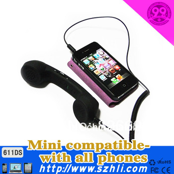 6116DS Free Shipping! small retro colorful anti-radiation pop mobile phone handset with volume control