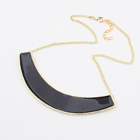 Free Shipping 1117 fashion metal necklace black personality star  1 pc Wholesale