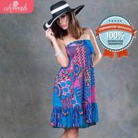 Free Shipping 2014 Summer Women's Colorful Beachwear Holiday Beach Casual Dress B064