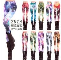 Fashion hot-selling milk, silk print HARAJUKU gradient tie-dyeing series trousers doodle legging