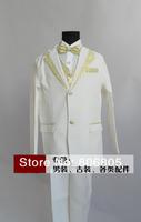 6 piece/ set Children's clothing Boys dress suit suit wedding flower girl dress stage performances white color