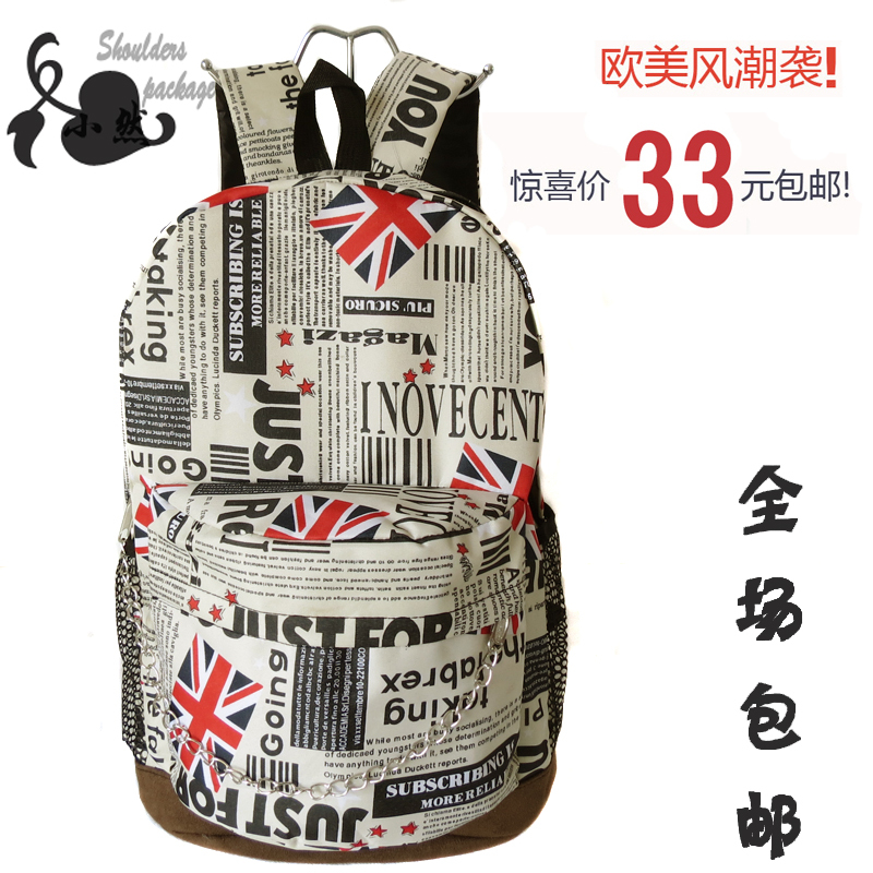 Normic fashion american flag map backpack for college students school bag(China (Mainland))