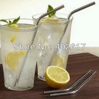 Wholesale Stainless Steel Straw 500pcs/lot bend drinking straw beer straw and fruit juice straw free shipping