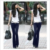 2013 New summer and spring women Hip was thin fashion bell bottoms,Casual straight jeans , popular Slim pants+ freeshinpping