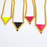 Womens 2013 Fashion Jewelry Choker Necklaces Chain Accessories Jewerly Punk Trigonometric Female Short Design Necklace