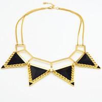 Womens 2013 Fashion Jewelry Choker Necklaces Chain Accessories Jewerly Punk Trigonometric Womens Short Design Necklace