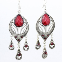 Wholesale earring Bohemian ethnic style fine earring palace retro lace earring jewelry LM_E108 FREE SHIPPING
