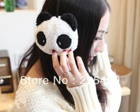 minorder$15(can mix order) autumn  winter to keep warm  cute cartoon panda rabbit wool cloth  soft warm ear muffs/earmuffs