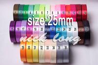 "Free shipping 1"" (25mm) single face Satin Ribbon/webbing decoration/gift ribbon ,36 Colors , 25 yards/roll/volor"