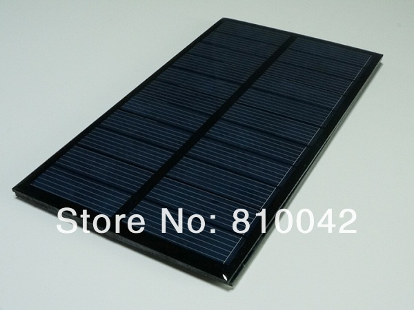 NEW 1.6W 6V Poly Crystalline Silicon Solar Panel/Small Solar Cells For DIY Solar Power System Wholesale 10pcs/lot Free Shipping(China (Mainland))