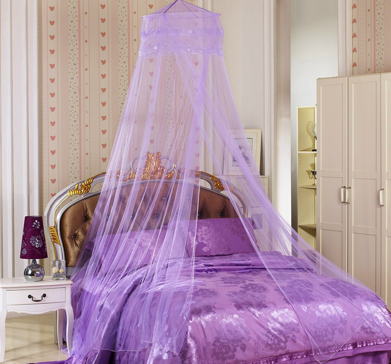 Free Shipping Folding Mosquito Net Adult Bed Canopy Netting Curtain MN-04 Wholesale and Retail(China (Mainland))