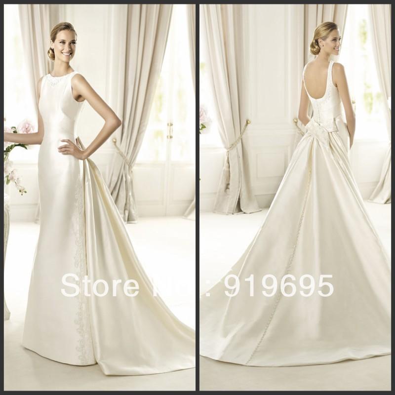 Cream Lace Dress Satin Lace Wedding Dress