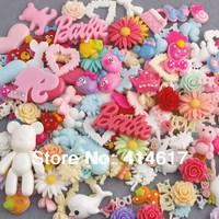 Lot 50pc Mix Assort Resin Flat Back Scrapbook Buttons Craft for DIY Craft
